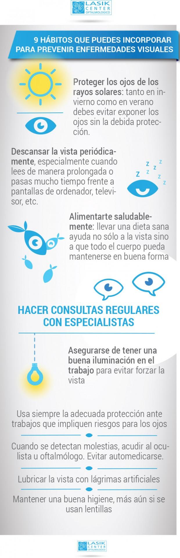 9 hábitos que ayudan a prevenir enfermedades visuales